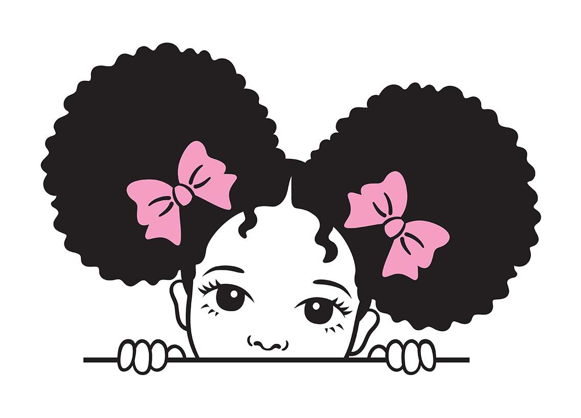 Little girl with nappy hair